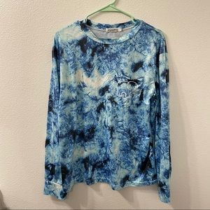 Ivory Ella long sleeve tie dye shirt blue small